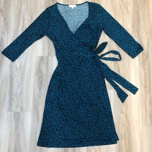 Simone Long Sleeve Wrap Dress